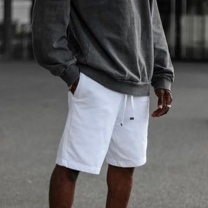 TALENTLESS MENS FRENCH TERRY SHORTS WHITE S M